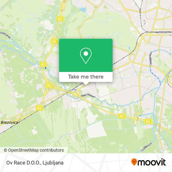 Ov Race D.O.O. map