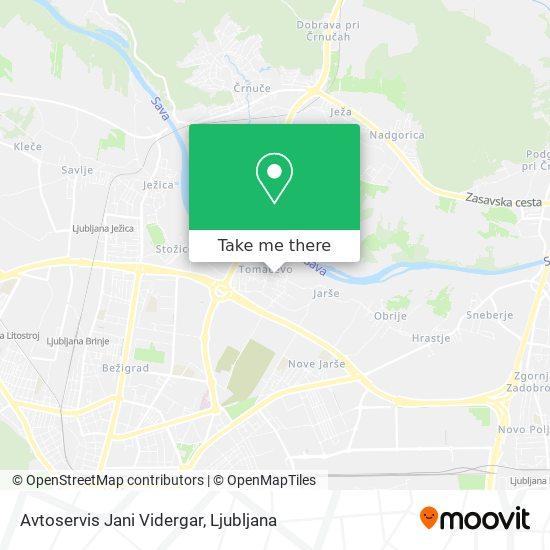 Avtoservis Jani Vidergar map
