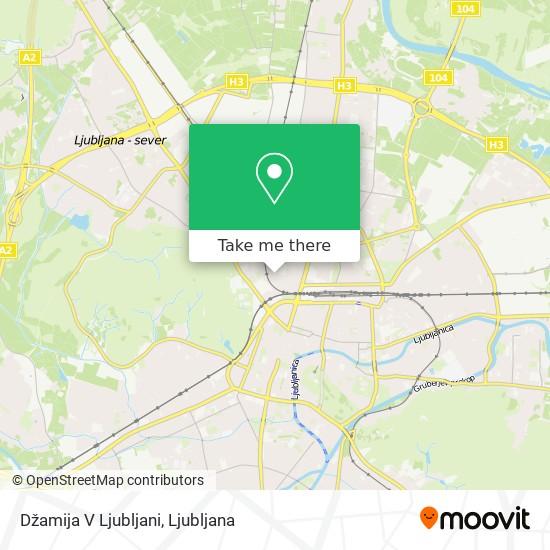 Džamija V Ljubljani map