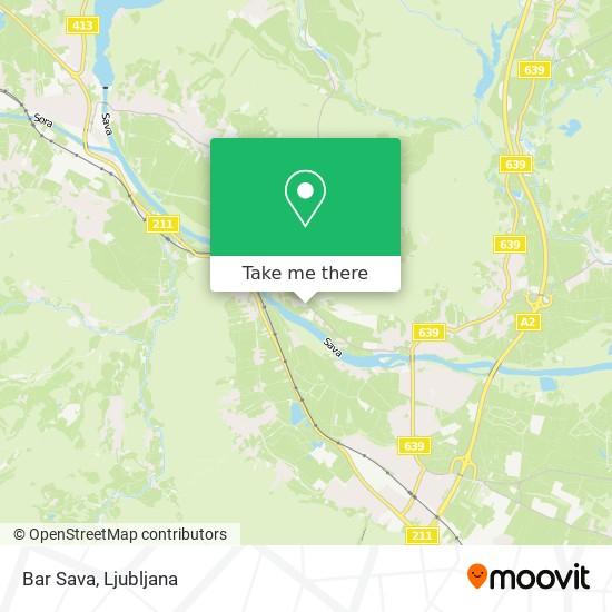 Bar Sava map