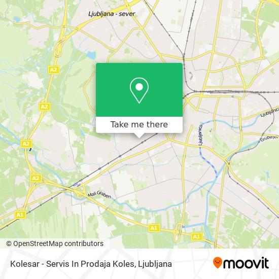Kolesar - Servis In Prodaja Koles map