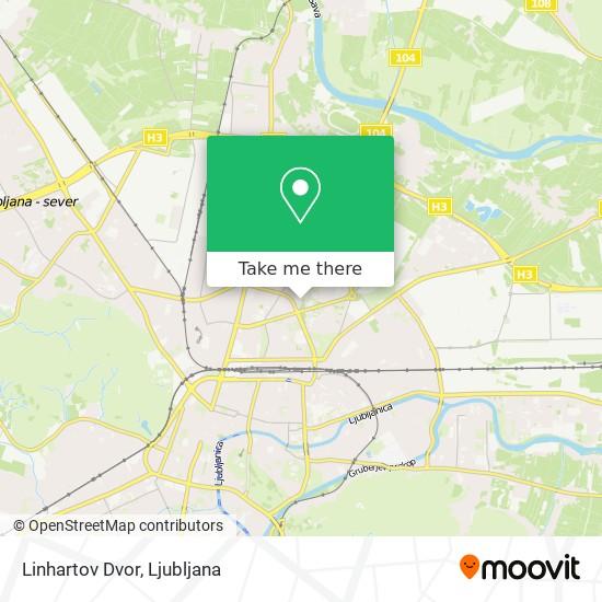 Linhartov Dvor map