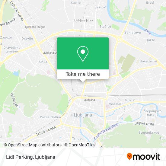 Lidl Parking map
