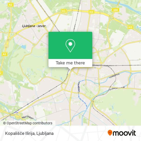 Kopališče Ilirija map