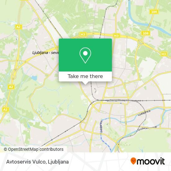 Avtoservis Vulco map