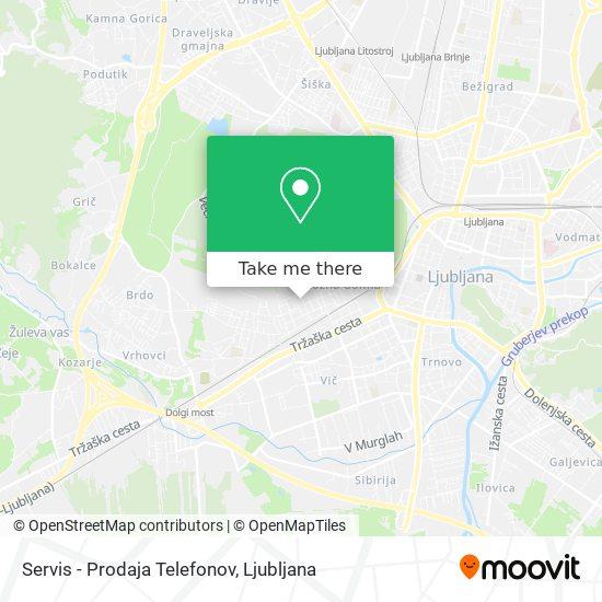 Servis - Prodaja Telefonov map