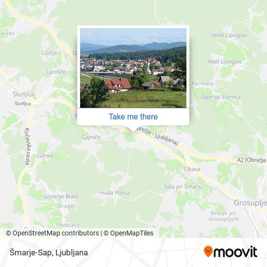 Šmarje-Sap map