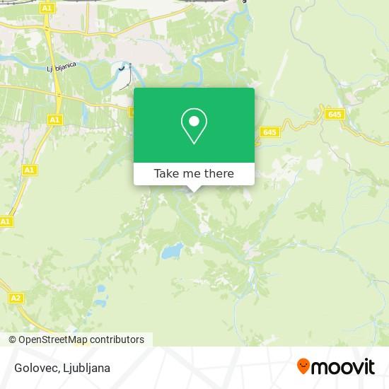 Golovec map