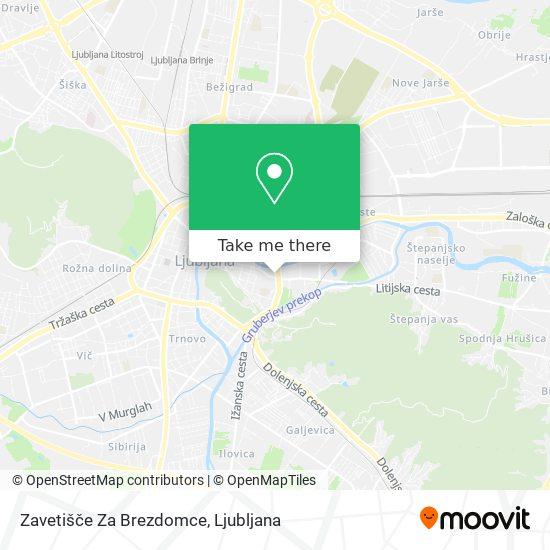 Zavetišče Za Brezdomce map