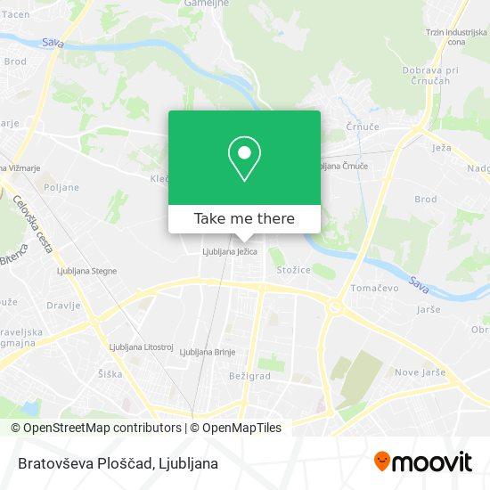 Bratovševa Ploščad map