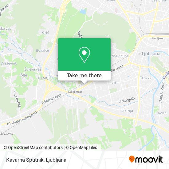 Kavarna Sputnik map