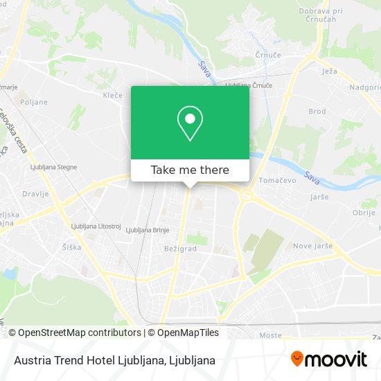 Austria Trend Hotel Ljubljana map