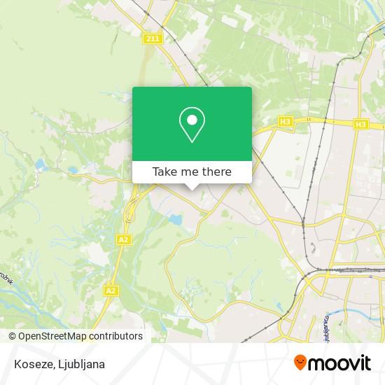 Koseze map