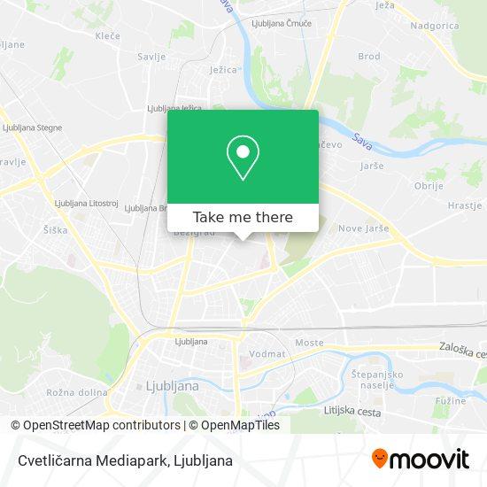 Cvetličarna Mediapark map