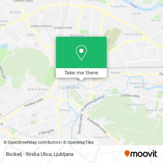 Bicike(Lj), Ilirska Ulica map