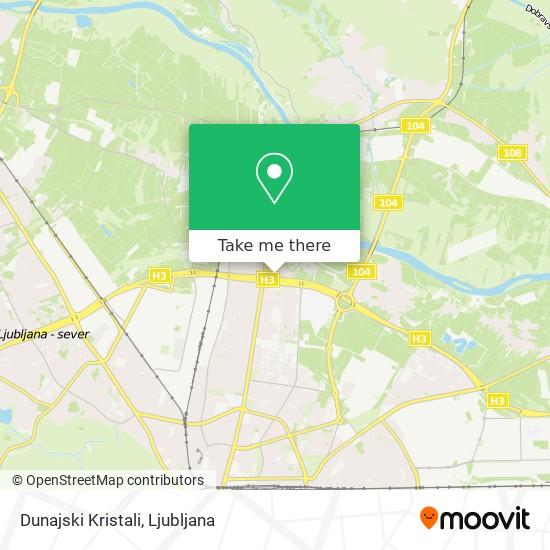 Dunajski Kristali map