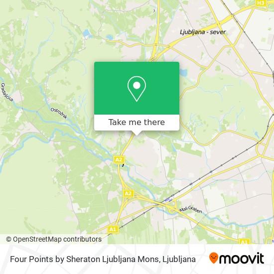 Four Points By Sheraton Ljubljana Mons map