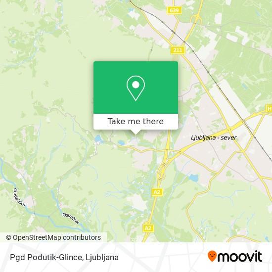 Pgd Podutik-Glince map