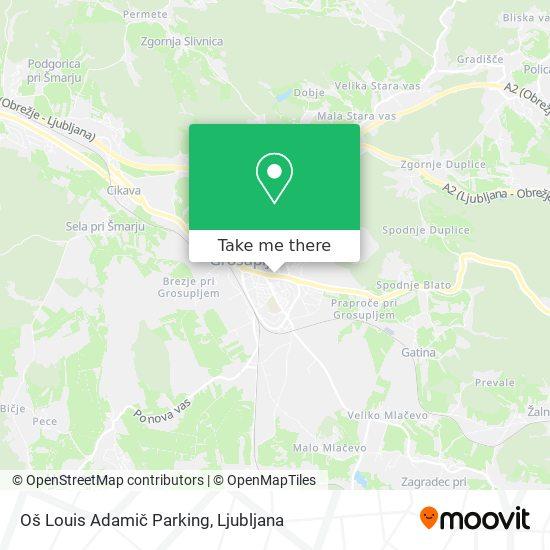 Oslag Parking map