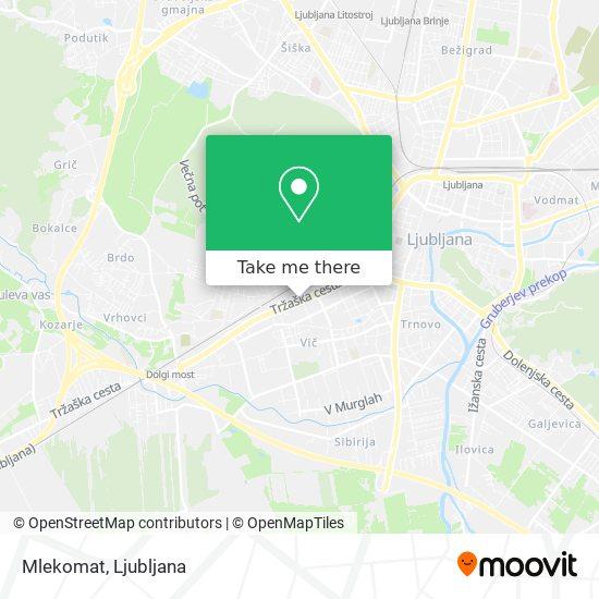 Mlekomat map