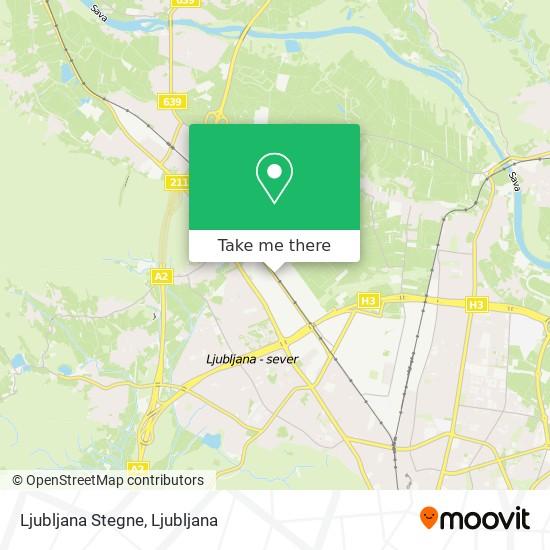 Ljubljana Stegne map