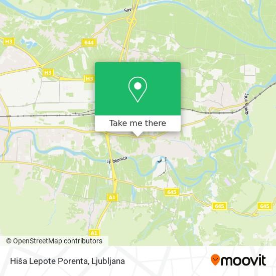Hiša Lepote Porenta map