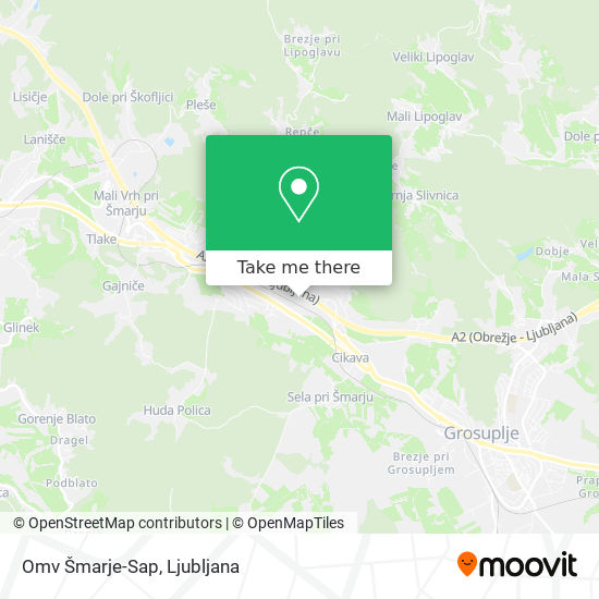 Omv Šmarje-Sap map