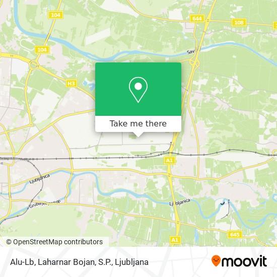 Alu-Lb, Laharnar Bojan, S.P. map
