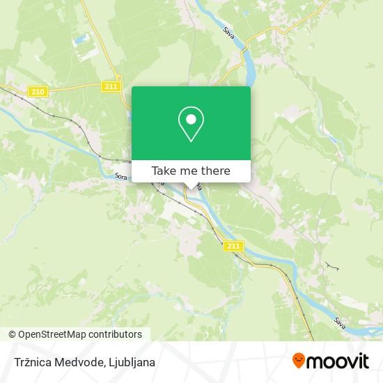 Tržnica Medvode map