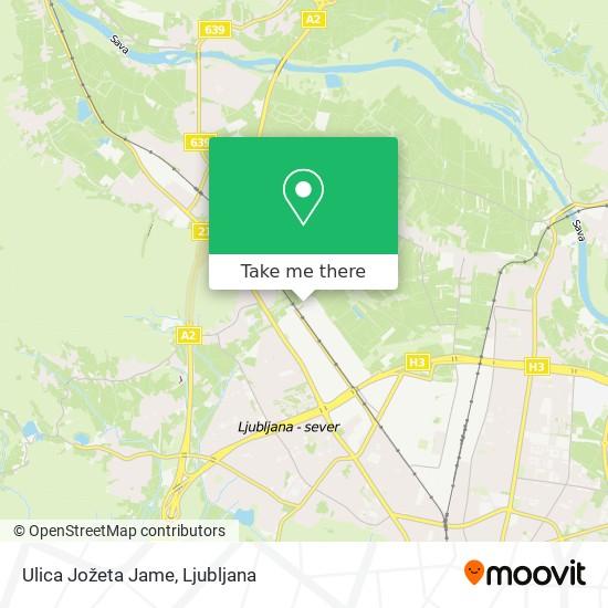 Ulica Jožeta Jame map