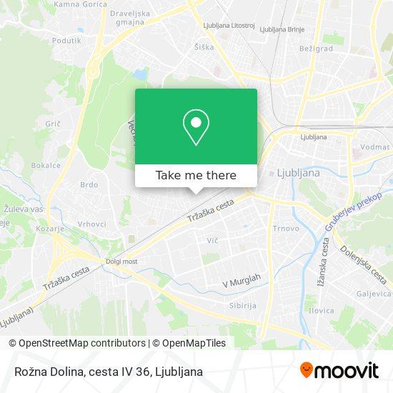 Rožna Dolina, cesta IV 36 map