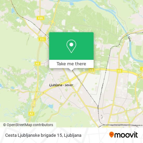 Cesta Ljubljanske brigade 15 map