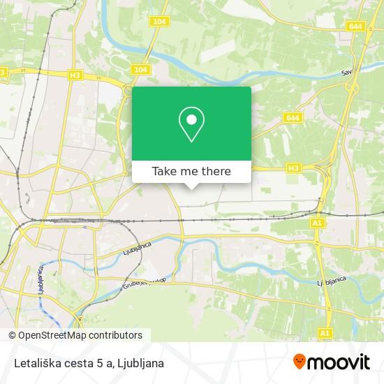 Letališka cesta 5 a map