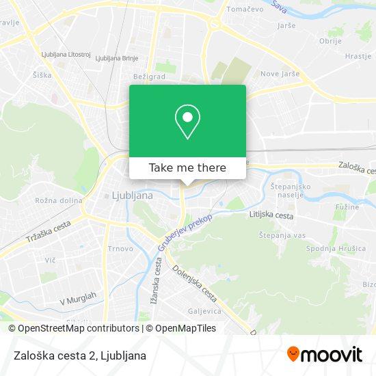 Zaloška cesta 2 map