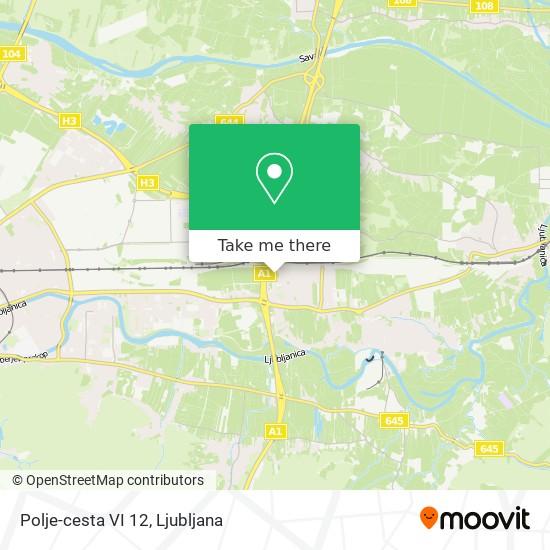 Polje-cesta VI 12 map