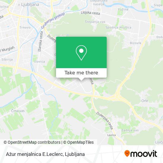 Ažur menjalnica E.Leclerc map