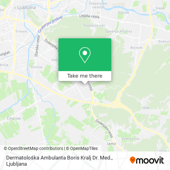 Dermatološka Ambulanta Boris Kralj Dr. Med. map