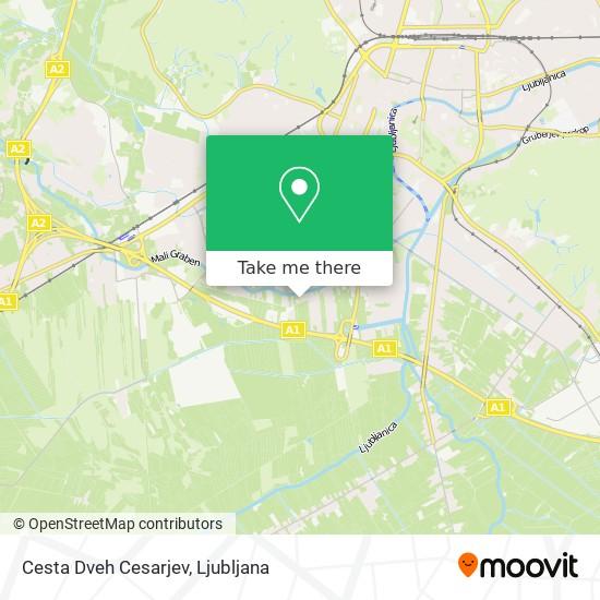 Cesta Dveh Cesarjev map