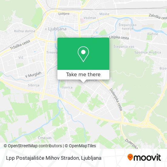 Lpp Postajališče Mihov Stradon map