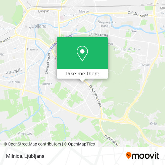 Milnica map