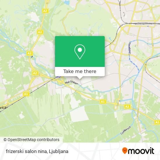 frizerski salon nina map