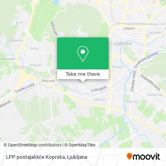 LPP postajališče Koprska map