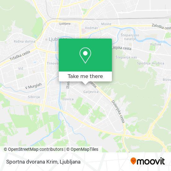 Sportna dvorana Krim map