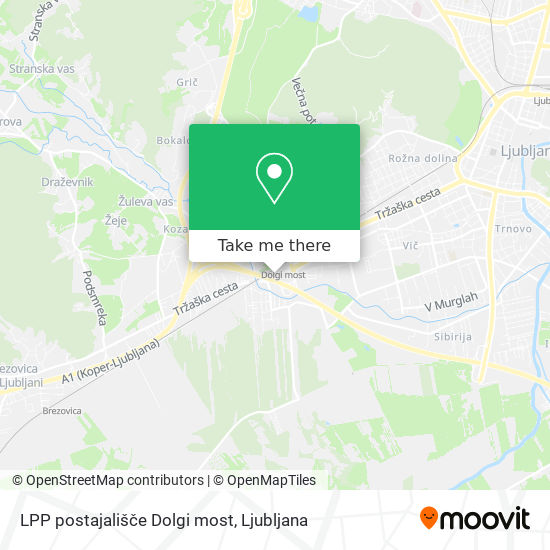 LPP postajališče Dolgi most map