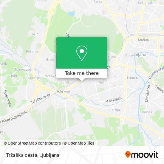 Tržaška cesta map
