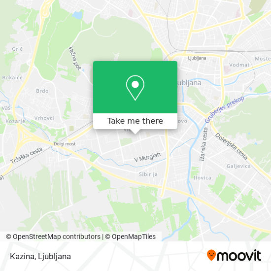Kazina map