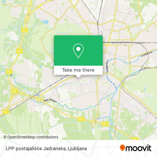 LPP postajališče Jadranska map