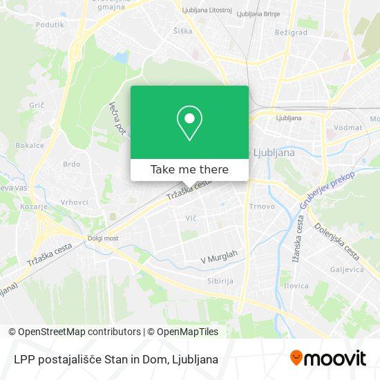 LPP postajališče Stan in Dom map