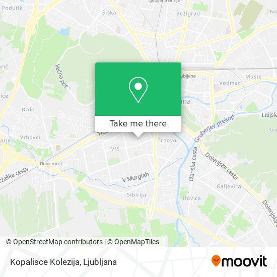 Kopalisce Kolezija map