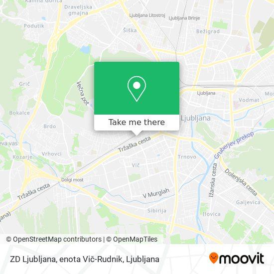 ZD Ljubljana, enota Vič-Rudnik map
